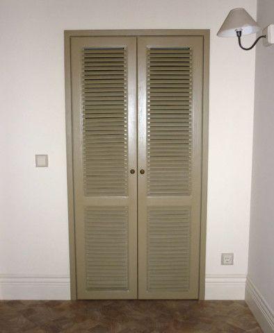 Неподвижные ламели на полотне двери