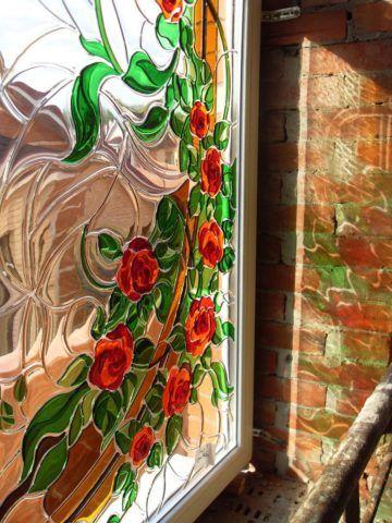 Объемное покрытие на двери