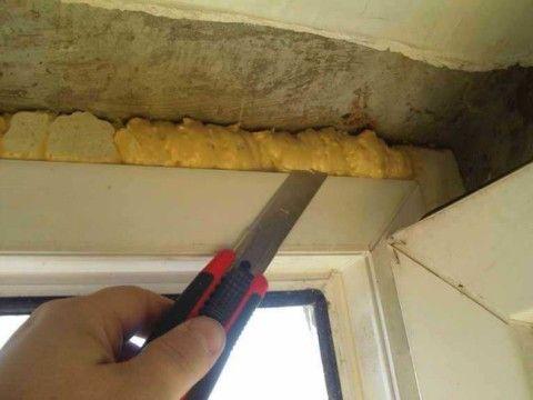 Обрезка строительной пены