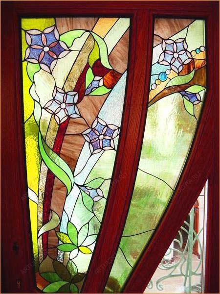 оформление балконной двери шторами