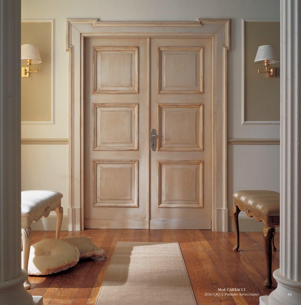 Оклейка старых дверей декоративными накладками