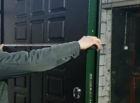 Определение середины двери