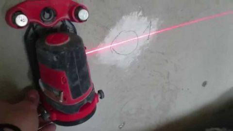 Отбивка лазерным уровнем