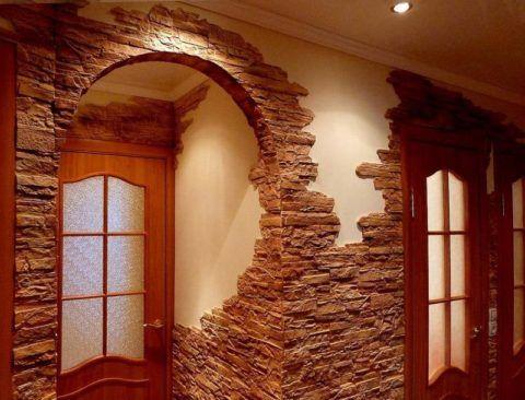 Отделка дверных проемов под арку плиткой