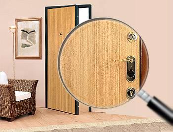 Использование ламината при отделке двери