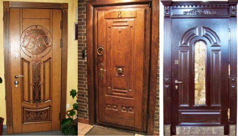 Парадные двери с МДФ