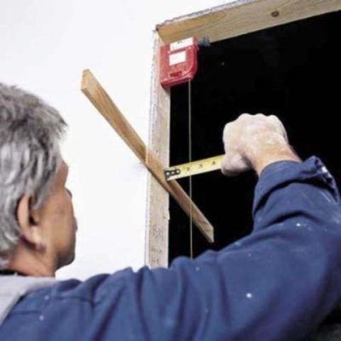 Подготовка проекта начинается с замеров дверной коробки