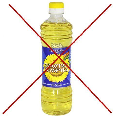 Подсолнечное масло нельзя использовать для смазки навесов