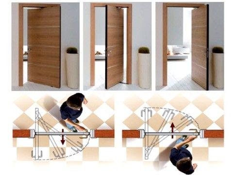 Поворотно-сдвижной механизм двери