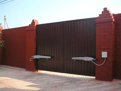 Применение привода для работы ворот