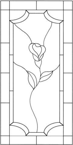 Пример эскиза витража для дверного полотна