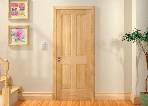 Прочная и надёжная межкомнатная дверь из сосны
