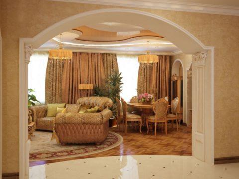Проход из холла в гостиную