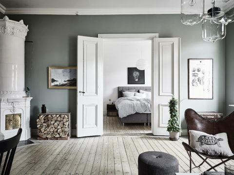 Простота, стиль и гармония сочетаются в исполнении дверных полотен в скандинавском интерьере