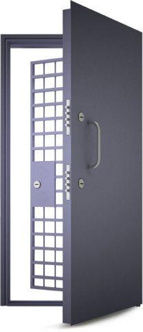 Противопожарная дверь с решеткой