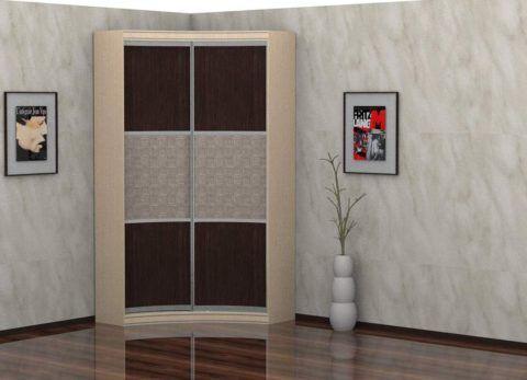 Пятистенный шкаф — компромисс между г-образной и диагональной мебелью