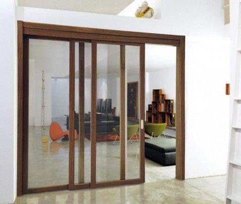 Раздвижные двери внутри проема