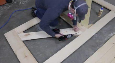 Разнонаправленные укосины для увеличения жесткости конструкции