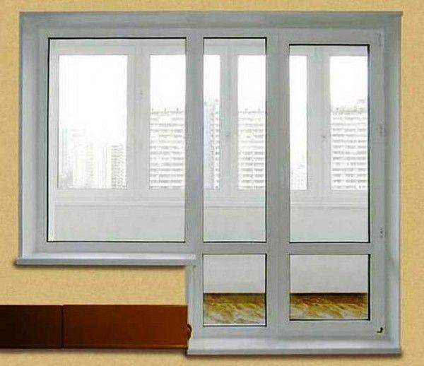 Схема двери на балкон