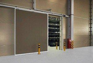 Сдвижные двери для гаража (откатные)