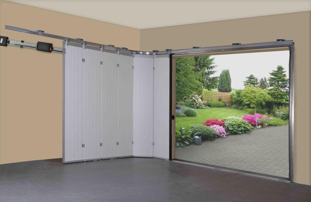 Сдвижные двери на гараж