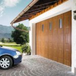 Секционные гаражные ворота с боковым сдвигом
