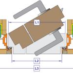 Схема двери на алюминиевом профиле
