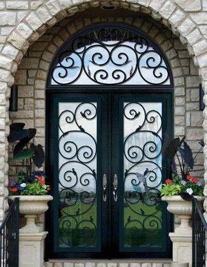 Сказочные кованые двери