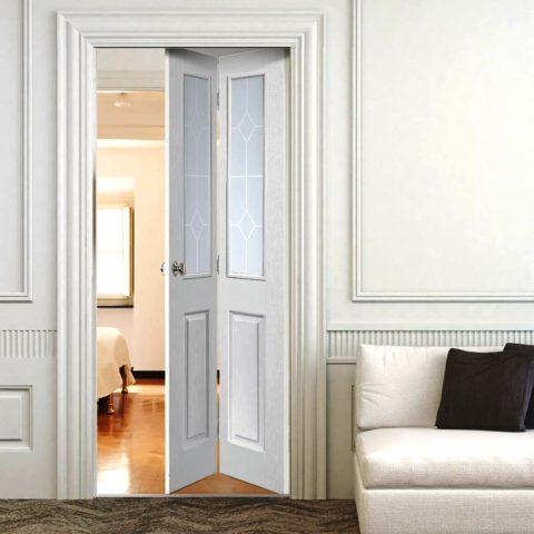Складные двери типа «книжка»
