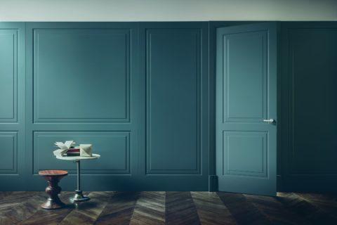 Скрытая дверь и визуально, и фактически является частью межкомнатной перегородки