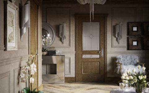 Современная дверь в классическом стиле