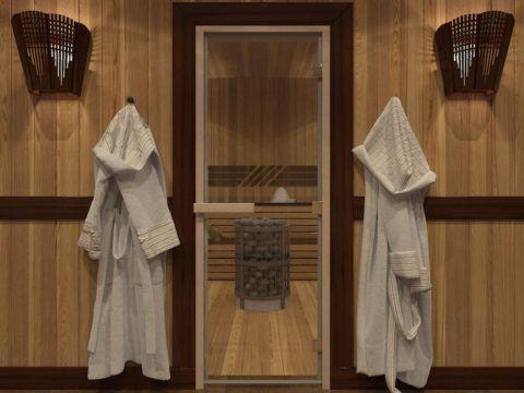 Стеклянные двери для бaнь с рисунком