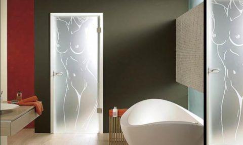 Стеклянные двери для санузла и ванной комнаты