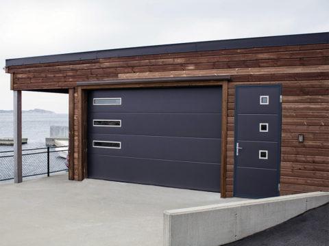 Стильные секционные гаражные ворота