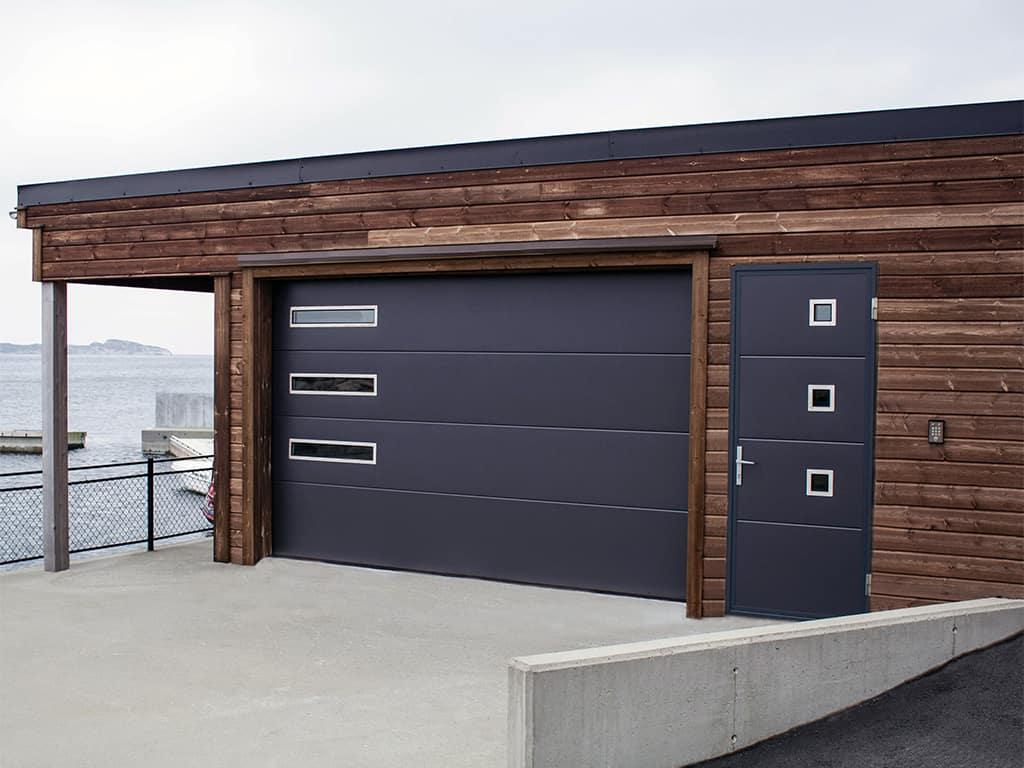 дизайн гаражных ворот разновидности конструкций