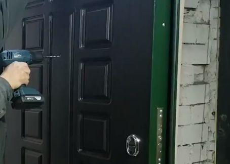 Сверление двери изнутри