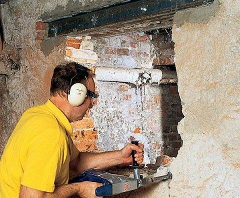 Сверление отверстий в стене