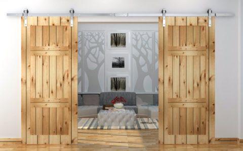 Такая дверь подойдёт для любого кантри-интерьера