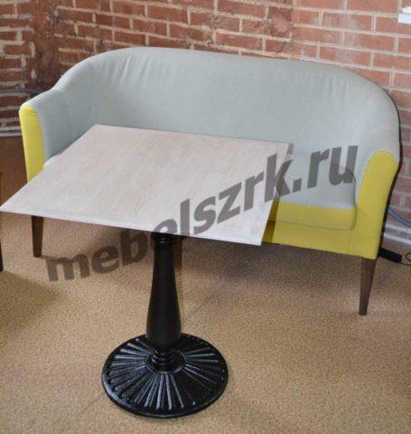 Такой диван для кафе отлично впишется в интерьер современного лофта