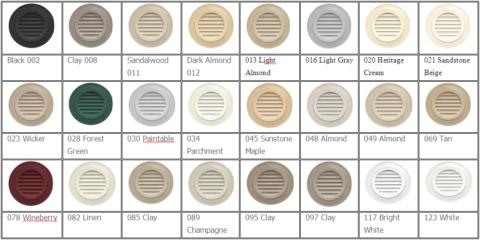 Цветовое разнообразие дверных вентиляционных решёток