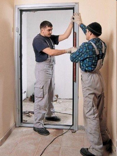 установка входных стальных дверей