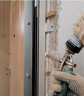 установить железную входную дверь