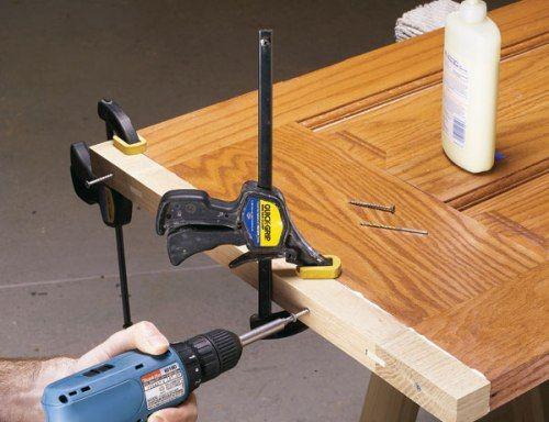 восстановление деревянных дверей