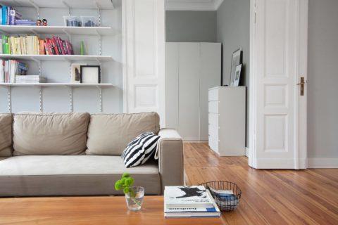 Вариант оформления гостиной в скандинавском стиле
