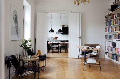 Вариант оформления просторной гостиной