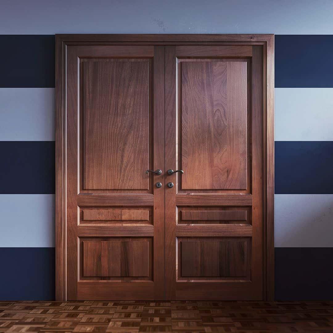 Современные межкомнатные двери из массива фото