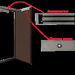 Вариант установки магнитного замка