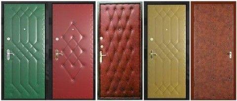 Варианты обивки дверей