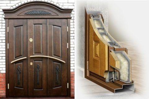 Входная деревянная дверь с утеплителем