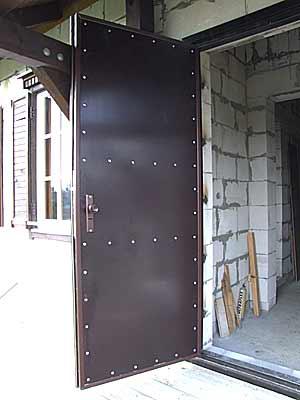 Входные металлические двери своими руками